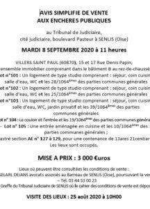 VILLERS SAINT PAUL 15 17 Rue Denis Papin